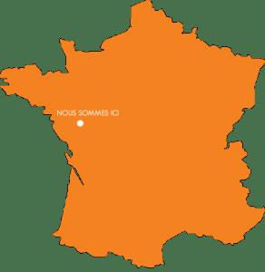 carte france orange