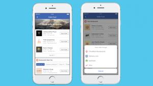 commander votre repas via Facebook