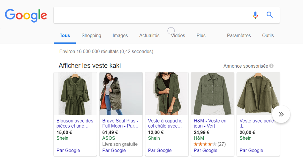 Site e commer : Comment utiliser google shopping